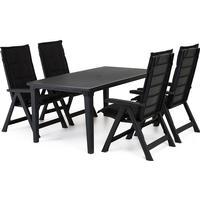 Cortland Brasilia matgrupp med Futura bord - 4 stolar