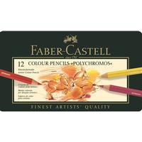 Faber-Castell Colour Pencils Polychromos Tin of 12