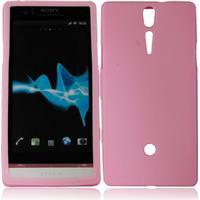 Silikon Schutzhülle Case für Sony Ericsson LT26i Xperia S Pink