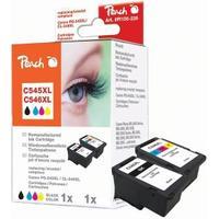 Peach PG-545XL och PG-546XL Bläckpatron 2-pack. Ersättningsbläck för Canon-skrivare
