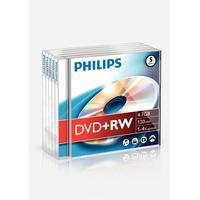 Philips DVD+RW 4.7GB 4x Jewelcase 5-Pack