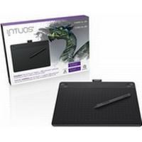 Wacom Intuos 3D Creative Pen & Touch CTH-690 Medium - Digitaliserare - höger- och vänsterhänta - 21.6 x 13.5 cm - multi-touch - elektromagnetisk - 4 knappar - kabelansluten - USB - svart