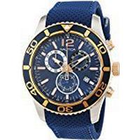 Nautica Men's Chronograph Quartz Watch with Leather Strap - NAI16502G