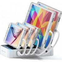 Satechi 5-Port USB Charging Station Dock  Minskar trassel överallt! (Colour: White)