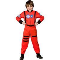 Wicked Costumes Ltd Astronaut Orange Barn Maskeraddräkt - Small