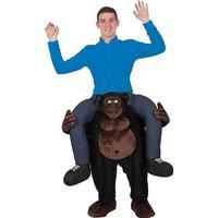 Wicked Costumes Ltd Carry Me Gorilla Maskeraddräkt - One size
