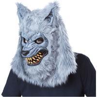 Fancydresswarehouse Varulv Grå Ani-Motion Mask - One size