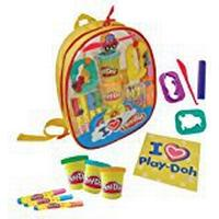 Play-Doh Backpack Filled with 4 Big Felt Tips, 4 Colouring Pencils, 1 Colouring Book, 3 Tub Of Modeling Clay and 4 Tools(styles may vary)