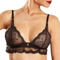 Chantelle Triangle Omen No Wire Bra With Lace Base Black (2767)