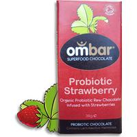 Ombar Probiotic Jordgubb 38g