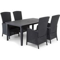 Comfort Garden Vermont Matgrupp med Futura bord 4 stolar, 4 fåtöljer