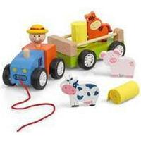 TOBAR Wooden Pull Along Tractor