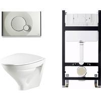 Ifö Vägghängd Toalettstolspaket 6875 Standardsits