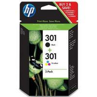 Combo HP 301 svart + färgbläckpatron 6 ml J3M81AE / N9J72AE original