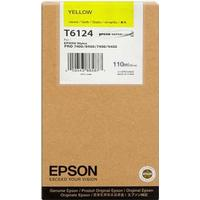 Epson T6114 gul bläckpatron 110ml original C13T611400