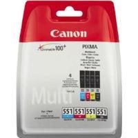 Canon multipack CLI-551 BK + C + M + Y bläckpatron 28ml original 4 st.