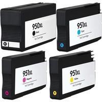 Rabatt! Bläckpatron HP 950XL 951XL BK + C + M + Y 4 st. kompatibel