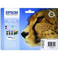 Rabatt! Epson T0715 1x BK / C / M / Y bläckpatroner original 23,9ml