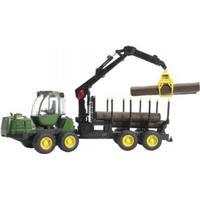 Bruder John Deere 1210E Skovrydningsmaskine med 4 Træstammer og Greb 02133
