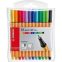 Stabilo Fineliner 88 Mini 0.4mm Pen 12-pack