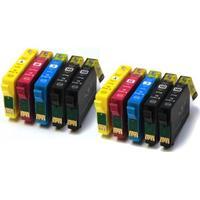 Fri frakt Epson T1816 +XL Dubbelt Set Plus BKx2 (T1811 x 4, T1812 x 2, T1813 x 2, T1814 x 2) BKx2/C/M/Y. Kompatibla bläckpatroner (ej Epson original). Epson 18XL. Fri frakt.