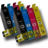 Fri frakt Epson T1816 +XL Dubbelt Set (T1811, T1812, T1813, T1814) BK/C/M/Y. Kompatibla bläckpatroner (ej Epson original). Epson 18XL. Fri frakt.
