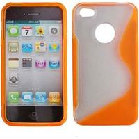 TPU Crystal skydd för iPhone 4G (Orange)