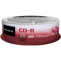 Sony CD-R 700MB 48x Spindle 25-Pack