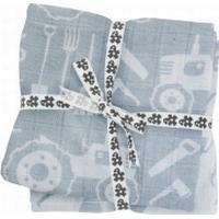 Sebra Bomullsfilt 4-pack Sebra FARM Blå Pastell