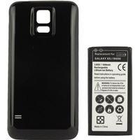 Batteri + skal till Samsung Galaxy S5 - svart 6500mA
