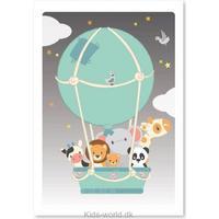 Studio Circus Luftballon Plakat 50x70cm