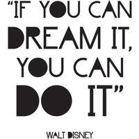 Wallsticker med Walt Disney citat, sort