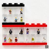 LEGO display kasse til legofigurer - 8 rum, SORT