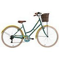 """ElswickLiberty Kids' Road Bike Green/Yellow, 17"""" inch steel frame, 6-speed front and rear v-brakes colour co-ordinated full length chainguard"""