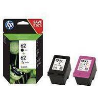 Paket med 2st bläckpatroner HP 62 svart och färg (N9J71AE)