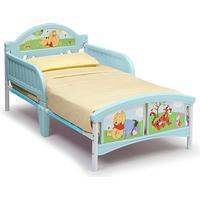 Delta Children Winnie the Pooh Wooden Toddler Bed with Guardrails