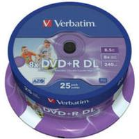 Verbatim DVD+R 8.5GB 8x Spindle 25-Pack Inkjet