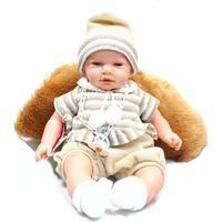 Nines Artesanals D'Onil Baby docka som pratar, gråter. Presentkartong med kudde. - med ljust hår
