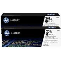 HP 201X - 2-pack - Lång livslängd - svart