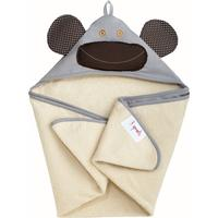 3 Sprouts Monkey Hooded Towel