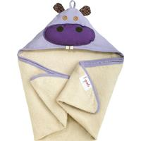 3 Sprouts Hippo Hooded Towel