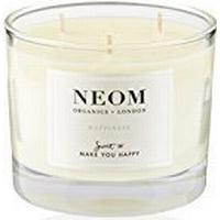 Neom Organics Happiness 3 Wicks Scented Candle White Neroli Mimosa & Lemon 420g