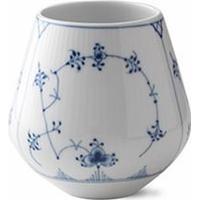 Royal Copenhagen Musselmalet Riflet Vase Medium 15cm