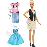 Mattel Barbie Fashionistas 44 Leather & Ruffles Doll & Fashions Tall