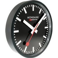 MONDAINE SVART VÄGGKLOCKA Ø 25cm, A990.CLOCK.64SBB