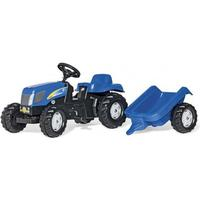 Rolly Toys Kid New Holland T7040 med trailer