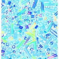 Efco Rocaillespärlor rund och stavformad mix - regnbågsfärg