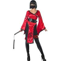 Smiffys Shadow Warrior Costume with Dress Belt