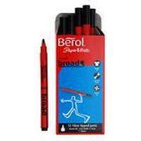 Berol Colour Broad FIbre Tipped Pens 12-pack