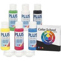 Plus Acrylic paint Set Primary Color 6-pack